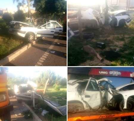 برخورد خودروی سواری با تیر برق در اصفهان یک کشته برجا گذاشت
