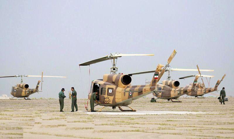 استقرار بالگردهای هوانیروز ارتش در سیستان