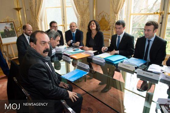 چشم انداز قدرت نمایی دولت و کنفدراسیون سراسری کار فرانسه
