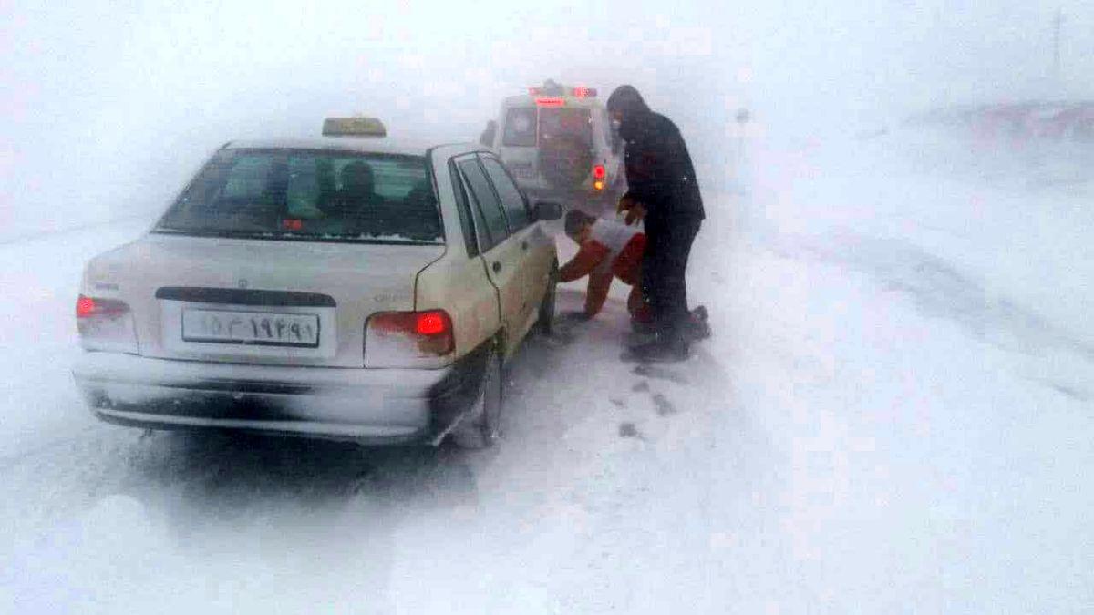 امدادرسانی به 492 نفر گرفتار برف و کولاک در استان اردبیل