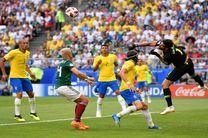 تساوی بدون گل برزیل و مکزیک در نیمه نخست