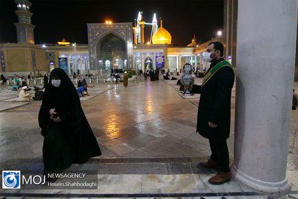 حال و هوای حرم حضرت معصومه (س) در شب میلاد نبی مکرم اسلام