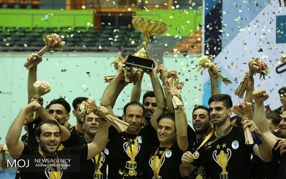 دیدار پایانی تیم های والیبال شهرداری ورامین و سایپا