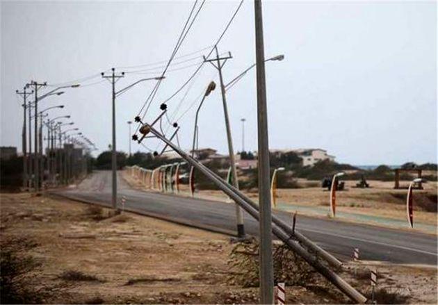 شبکه برق گچساران خسارت سنگینی دید