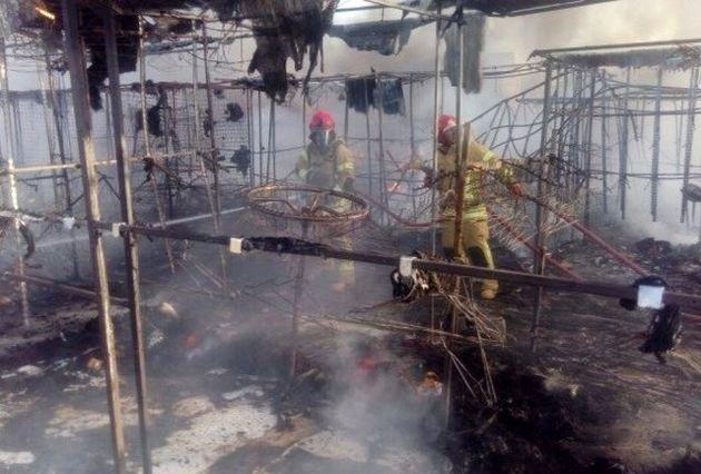 علت آتش سوزی در بازار گلشهر اعلام شد/ بازار گلشهر 100 درصد سوخت
