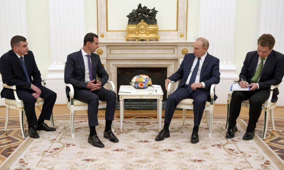 دیدار بشار اسد با پوتین در مسکو روسیه