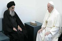 آیت الله سیستانی امروز پاپ فرانسیس را به حضور پذیرفت