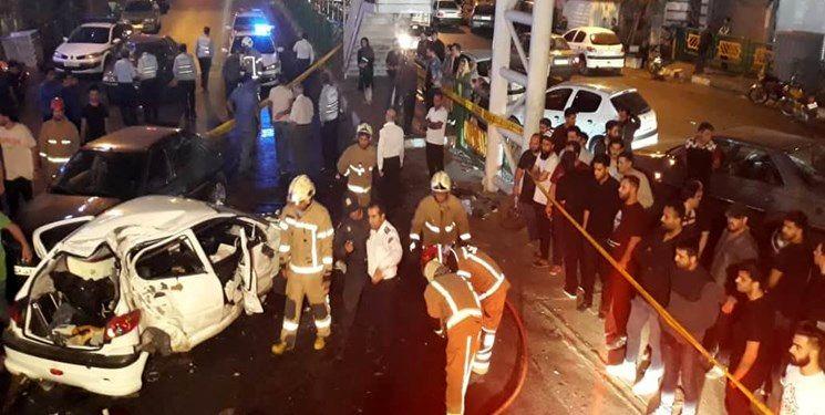 تصادف مرگبار 2 مرد جوان در بزرگراه رسالت