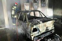 مهار آتش سوزی یک مجتمع مسکونی در اهواز