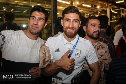 بازگشت افتخارآفرینان تیم ملی فوتبال به ایران