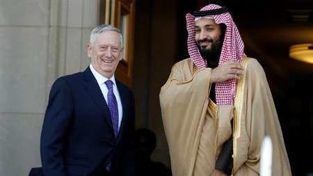 تماس تلفنی وزیر دفاع آمریکا با محمد بن سلمان