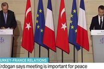 ماکرون: قدس پایتخت مشترک فلسطین و اسرائیل است/اردوغان: راهکاری سیاسی بدون حضور اسد در سوریه پیدا می کنیم