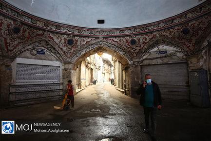 اولین روز تعطیلی بازار بزرگ تهران در وضعیت قرمز کرونا