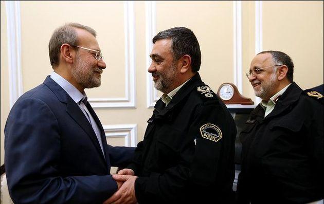 دیدار فرمانده ناجا با رئیس مجلس