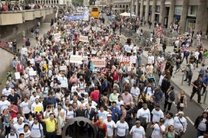 تظاهرات مسلمانان آلمان در اعتراض به تروریسم