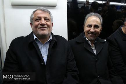حضور شهردار و رییس شورای شهر تهران در مترو