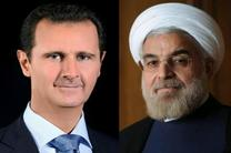 روحانی: ملت ایران همچنان در کنار ملت سوریه است/بشار اسد:حملات تاثیری بر روحیه مردم در مبارزه با تروریست ها ندارد