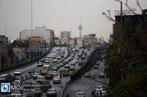 وضعیت ترافیکی بزرگراه های تهران در صبح روز ۱۹ آذر