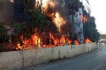 وقوع آتش سوزی گسترده در اردوگاه آوارگان سوری در جنوب لبنان