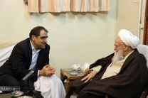 وزیر بهداشت با آیتالله صافی گلپایگانی دیدار کرد