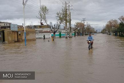 آب گرفتگی معابر شهری در گنبد کاووس