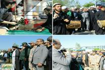 پیکر مطهر شهید گمنام دوران دفاع مقدس در لنگرود تشییع شد