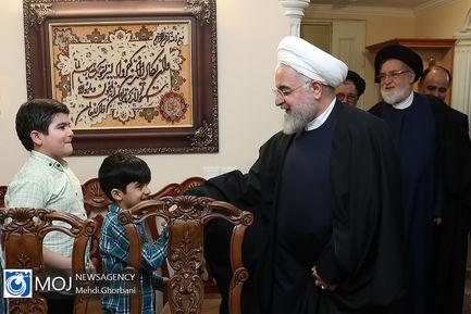 دیدار رییس جمهوری با خانواده معظم شهدا و جانبازان