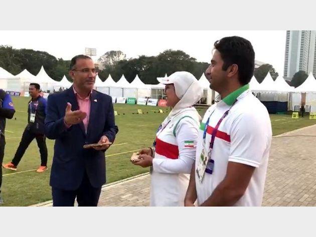 حاشیه برگزاری رقابتهای تیروکمان/ ازدواج دو ورزشکار ایرانی در جاکارتا +فیلم