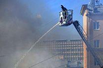 آتشسوزی گسترده در مرکز مسکو