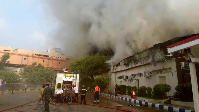 جان باختن یک نفر در آتش سوزی بازار پردیس کیش