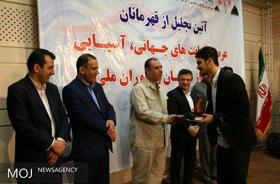 قهرمانان کردستانی در عرصه رقابت های جهانی و آسیایی تجلیل شدند