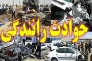مصدومیت 5 نفر در اثر تصادف دو خودرو در محور چادگان - اصفهان