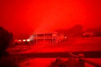 آتش سوزی بی سابقه، آسمان جنوب شرق استرالیا را قرمز رنگ کرد