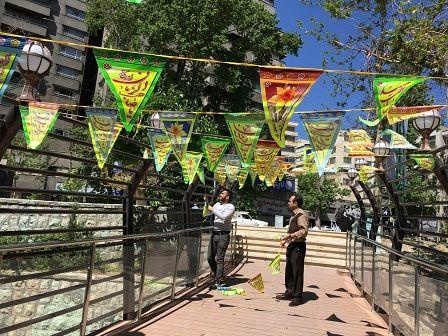 آذین بندی سرای محله ساعی به مناسبت اعیاد شعبانیه