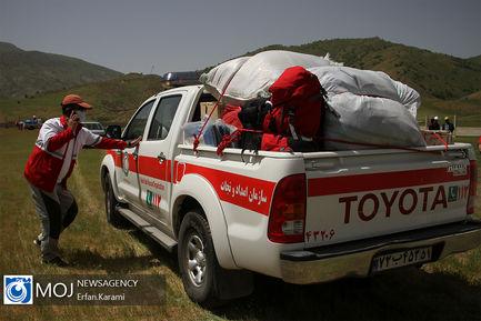 مانور مدیریت بحران جمعیت هلال احمر استان کردستان