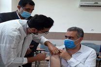 مدیرکل آموزش و پرورش مازندران در غرب استان واکسینه شد