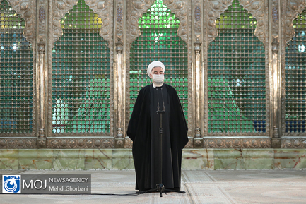 تجدید میثاق رییس جمهوری با آرمان های امام راحل و شهیدان