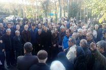 مراسم تشییع پیکر صالحی در ورزشگاه شهید شیرودی برگزار شد
