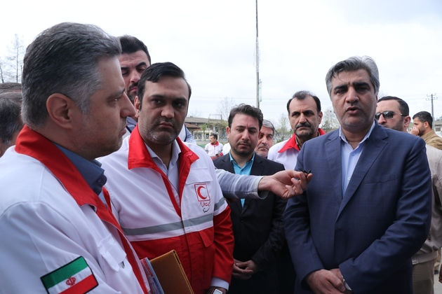 بازدید نوروزی استاندار گیلان از ایستگاه ایمنی و سلامت جمعیت هلال احمر
