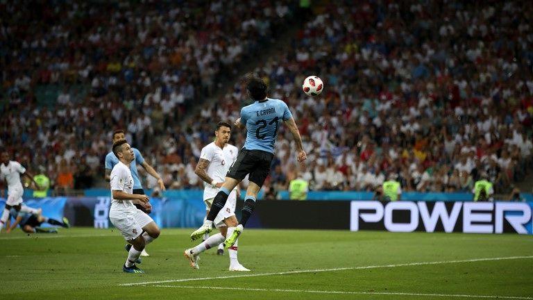 برتری اروگوئه مقابل پرتغال در نیمه نخست