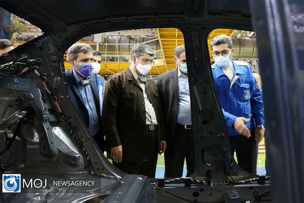 بازدید هیات تحقیق  و تفحص از صنعت خودرو سازی از ایران خودرو
