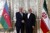 وزیر امور خارجه جمهوری آذربایجان با ظریف دیدار کرد