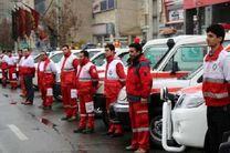 خدمت رسانی 200 نیروی خدمت رسان هلال احمر در مسیرهای راهپیمایی چهلمین پیروزی انقلاب اسلامی