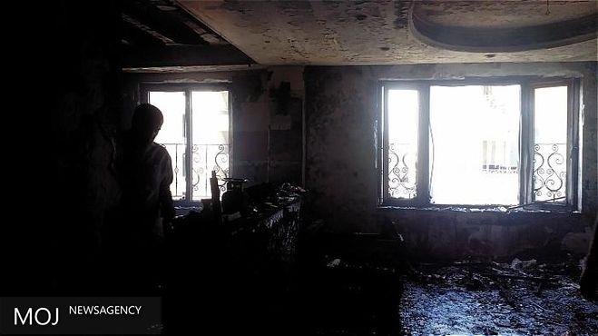 منزل مسکونی در آتش سوخت