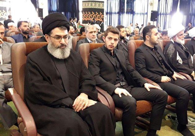 دبیرکل کتائب حزب الله عراق در مراسم ترحیم پدر سردار سلیمانی شرکت کرد