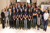بدرقه تیم ربوکاپ دانشگاه آزاد قزوین از سوی مدیران ارشد بانک ملت