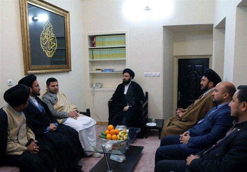 مشاور ارشد شورای امنیت افغانستان با سید علی خمینی دیدار کرد
