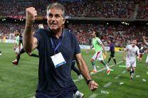 حضور کیروش در مراسم قرعه کشی جام جهانی