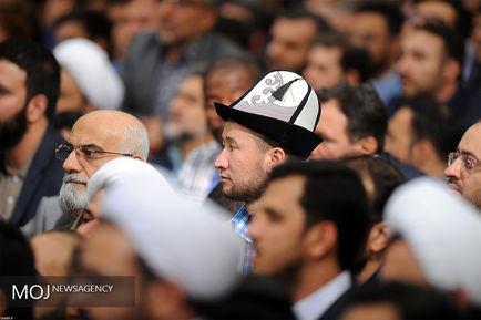 دیدار شرکتکنندگان در مسابقات بینالمللی قرآن با مقام معظم رهبری
