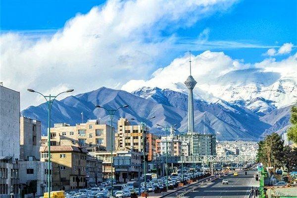 کیفیت هوای تهران در 4 خرداد  پاک است